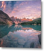 Sunrise Hour At Banff Metal Print