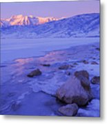 Sunrise Ice Reflection Metal Print
