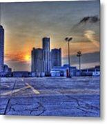 Sunrise In Detroit Mi Metal Print by Nicholas  Grunas