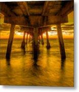 Sunrise In Ft Lauderdale Pier Metal Print