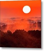 Sunrise In Hocking State Forest Metal Print