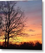 Sunrise In Illinois Metal Print