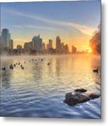 Sunrise In January Over Austin Texas 5 Metal Print