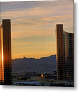 Sunrise In Las Vegas Metal Print