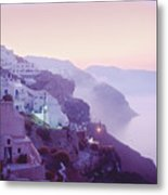 Sunrise In Oia Metal Print