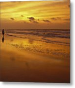 Sunrise In Orange Metal Print