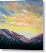 Sunrise In The Mountains Metal Print