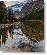 Sunrise In The Rocky Mountains Metal Print