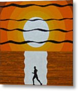 Sunrise Jogger Metal Print