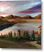Sunrise Lake Metal Print