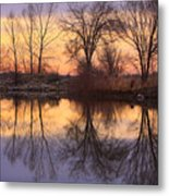 Sunrise Lake Reflections Metal Print