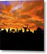 Sunrise Landscape In Tanzania Metal Print