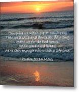 Sunrise Love Scripture Metal Print