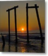 Sunrise At Ocean City Metal Print