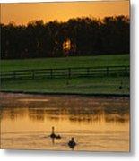 Sunrise On A Gettysburg Duck Pond Metal Print