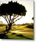Sunrise On A Golf Course Metal Print