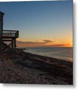 Sunrise On Beach Road, Falmouth Metal Print