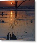 Sunrise On Boneyard Beach Metal Print