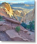 Sunrise On Burr Trail Switchbacks Metal Print
