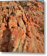 Sunrise On Colorful Sandstone In Valley Of Fire Metal Print