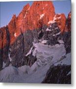 1m9380-sunrise On Grand Teton  Metal Print