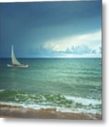 Sunrise On Indian Ocean Metal Print