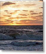 Sunrise On Pompano Beach Pompano Florida Metal Print