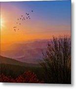 Sunrise On The Blue Ridge  Metal Print