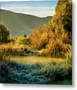 Sunrise On The Duck Marsh Metal Print