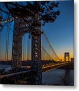 Sunrise On The Gwb, Nyc - Landscape Metal Print