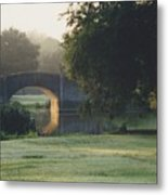 Sunrise On The Golf Course Metal Print