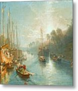 Sunrise On The Grand Canal Metal Print