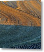 Sunrise On The Groomed Beach  Metal Print