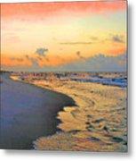Sunrise On The Gulf Metal Print