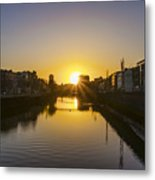 Sunrise On The Liffey River - Dublin Ireland Metal Print