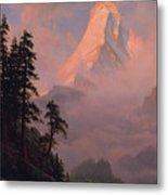 Sunrise On The Matterhorn         Metal Print