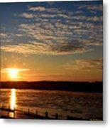 Sunrise On The Mississippi Metal Print