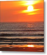 Sunrise On The Oceanside Metal Print