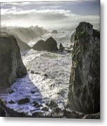 Sunrise On The Pacific Coast Metal Print