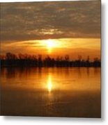 Sunrise On The Pecatonica River Metal Print
