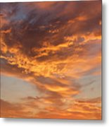 Sunrise Orange Sky, Willamette National Forest, Oregon Metal Print