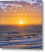 Sunrise Over Atlantic Ocean Metal Print