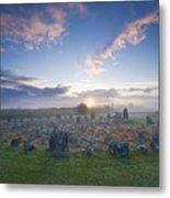 Sunrise Over Beaghmore Stone Circles Metal Print