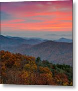 Sunrise Over Blue Ridge Parkway. Metal Print
