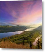 Sunrise Over Columbia River Gorge Metal Print