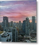 Sunrise Over Downtown Vancouver Bc Metal Print