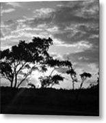 Sunrise Over Fort Salonga B W Metal Print