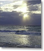 Sunrise Over Gulf Of Mexico Metal Print