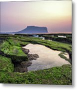 Sunrise Over Jeju Island Metal Print