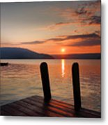 Sunrise Over Keuka IIi Metal Print by Steven Ainsworth